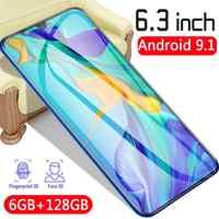CHAOAI Russo P35 pro 6GB 128GB Versione Globale Smartphone di Goccia da 6.3 pollici Dello Schermo Del Telefono Mobile 2 Sim 3g Del Cellulare