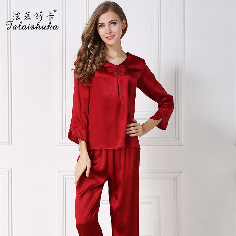 Online Get Cheap Red Silk Pajamas for Women -Aliexpress.com ...