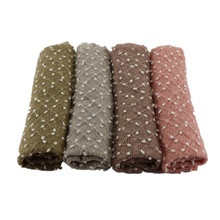 (150*100cm) Knit Bobble Wraps Mini Small Ball Vintage Style Newborn Photography Props Swaddlings Padding Nubble