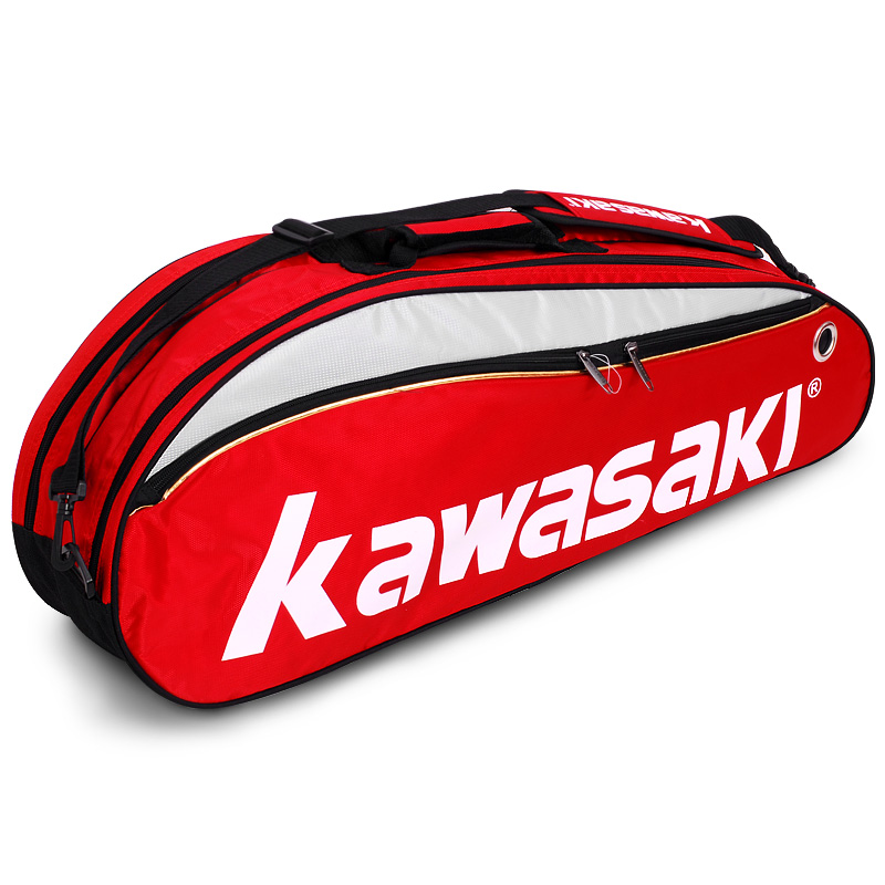 Kawasaki Badminton Bag Single Shoulder Racket Sports Bags With Shoes Bag Can Hold 3-6 Pieces Rackets Unisex