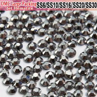 Bulk Packing Hotfix All Size Strass Jet Hematite Crystals Hot Fix Rhinestones Motif Iron On Transfer Design Loose Rhinestones