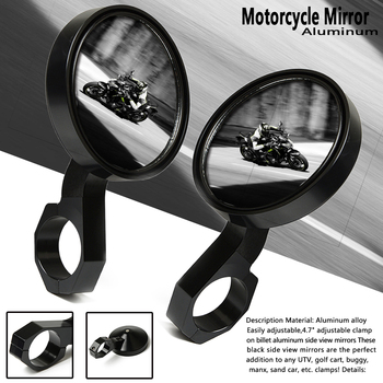 Motorcycle Mirror Scooter Rearview Mirrors Electrombile Back Side Convex Mirror for Yamaha Viking Polaris RZR XP1000 XP4 RZR XP
