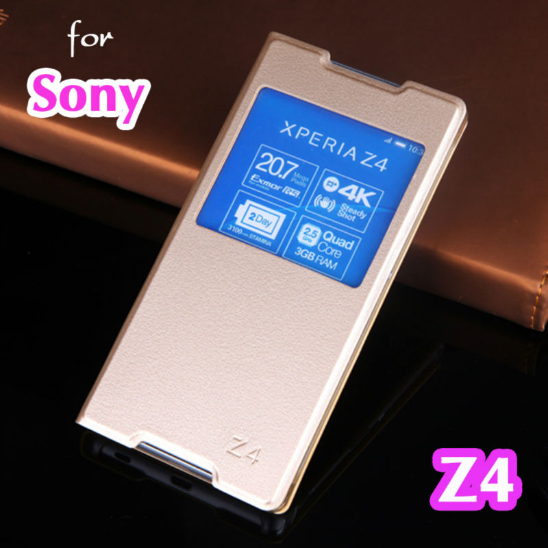 Flip Cover Leather Case For Sony Xperia Z4 Z3 Plus Z3+ Z 4 3