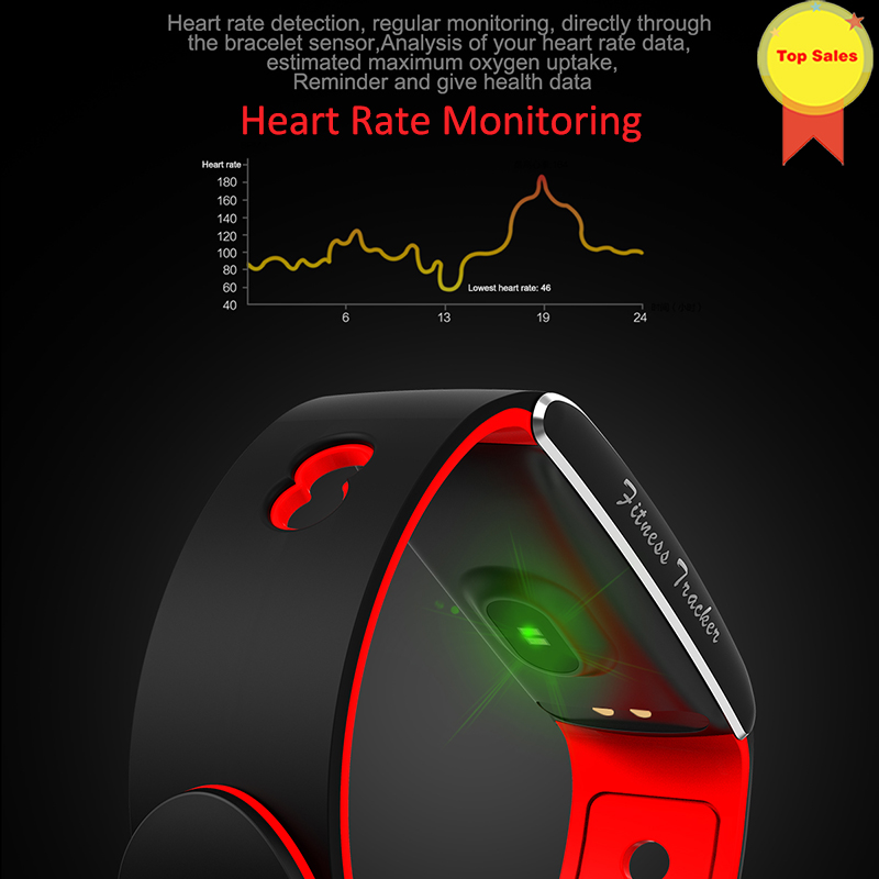 smart wristband IP67 Waterproof smart band color screen Swimming Cycling Mode Fitness Bracelet heart rate Blood pressure Monitor in Smart Wristbands from Consumer Electronics