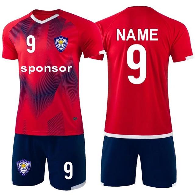 2019 New Men Jerseys Soccer uniforms survetement Football Kit Adult personality Soccer Jersey Set De Foot shorts Custom Name Num