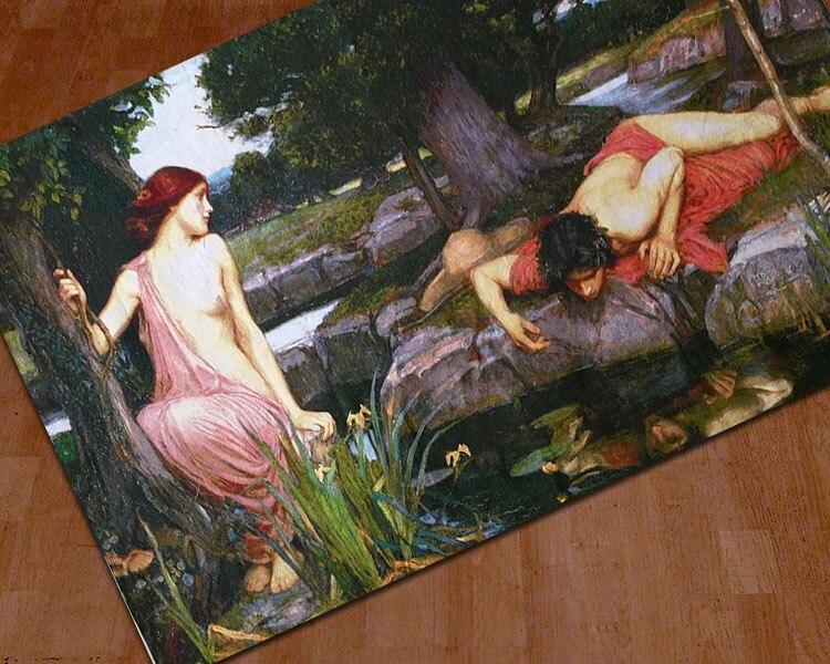 110*175 Belgium tapestry living room sofa background wall blanket Greek Mythology art fabric home textile - 2