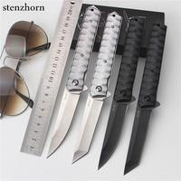 2017 Measure Outdoor Fruit Knife Folding Knife Self Defense Wilderness Survival Spring Steel Knife Wild Small