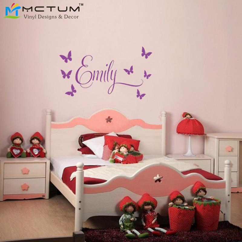 Aliexpress.com : Buy Beautiful Butterflies Princess Wall Sticker  Personalized Name Removable Mural Vinyl Decals For Nursery Kids Rooms Home  Decor From ... Part 67