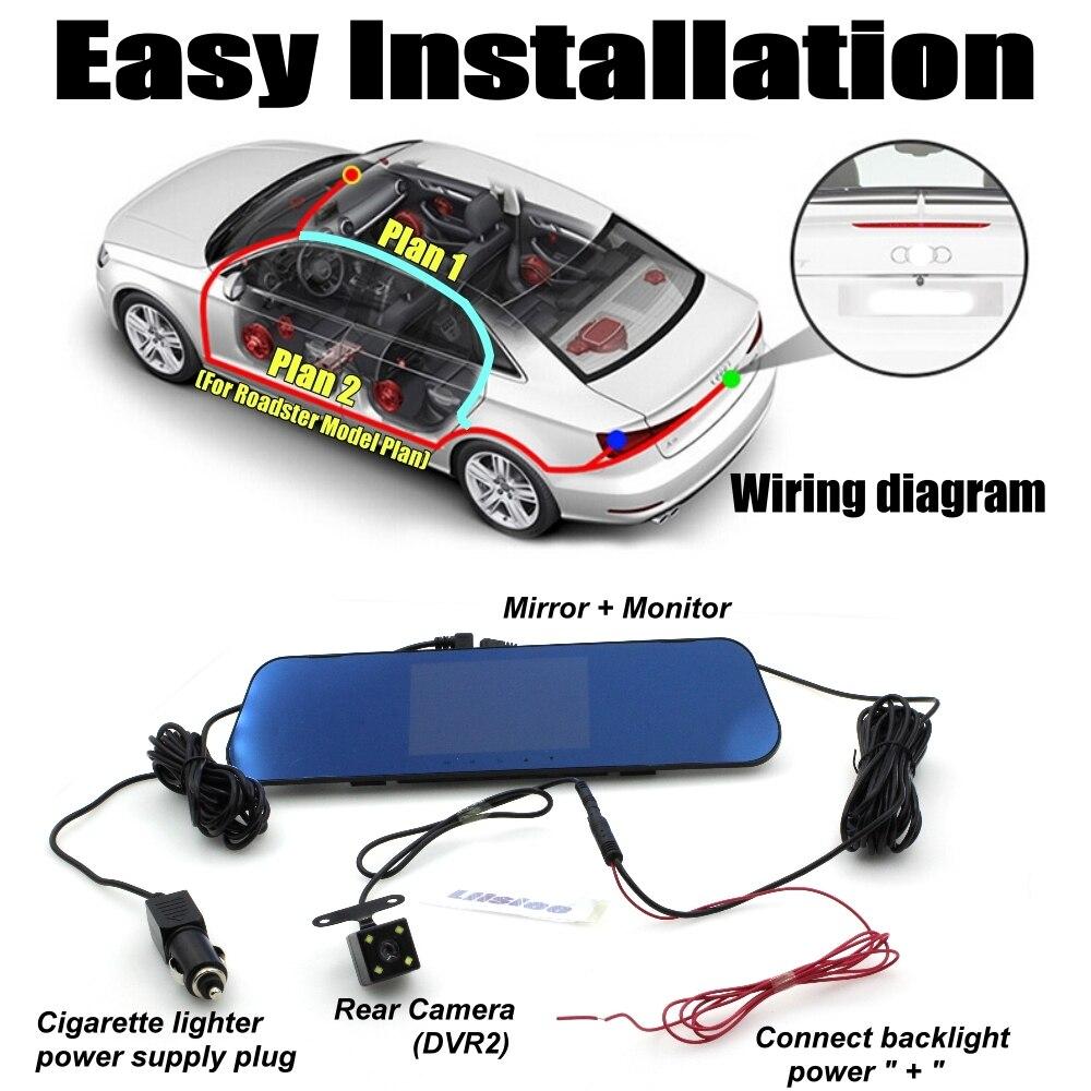 Car BlackBox DVR Dash Camera Driving Video Recorder Front & Rear Double  Cameras DVR For BMW 1 E88 E82 2 F22 F45 M3 E46 3 E90 E92