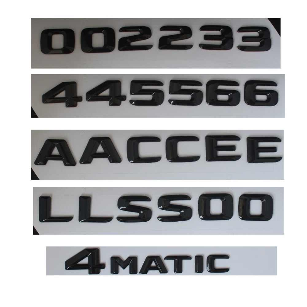 Gloss Glossy Black Rear Trunk Letters Number Badge Emblem Emblems for Mercedes Benz A C E GLE GLA CLS CLA S Class AMG 4MATIC