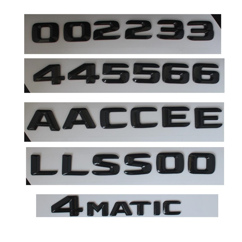 Gloss Glossy Black Rear Trunk Letters Number Badge Emblem Emblems for Mercedes Benz A C E GLE GLA CLS CLA S Class AMG 4MATIC car steering wheel emblem stickers for benz a b e s gle glk gla