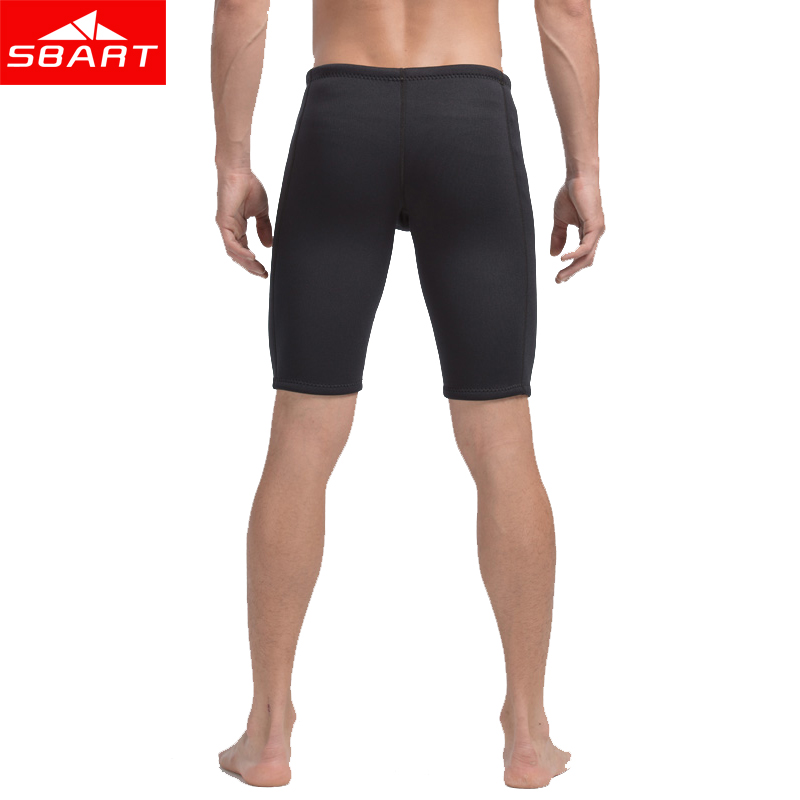 SBART Mens 3MM Neoprene Rush Guards Pant Swimming Surfing Diving Swimwear Short Rashguard Pants Sunscreen Bathing Suits Trunks