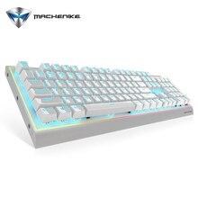 Оригинальный machenike Игры Механическая клавиатура K1-B3S голубой Подсветка платины Keycap металла Подставки Водонепроницаемый Для мужчин торцевое