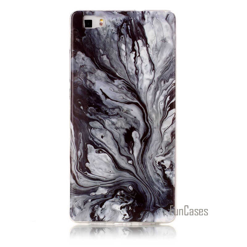 Luxury Granite Scrub Marble Phone Case For Huawei P8 lite Silicone Soft For Coque Huawei P8 lite Phone Bags Cover D75