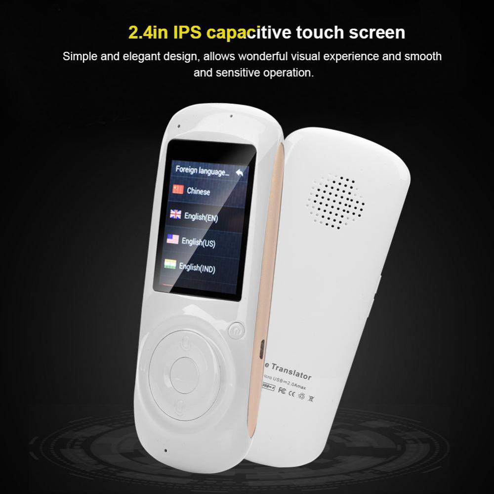 Portatile 37 Lingua IPS Screen Tempo Reale Dello Schermo di Wifi Smart Voice Translator Turismo Shopping Conversazione Incontri - 6