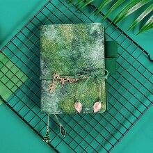 ירוק יער סדרת מקורי עדין רטרו מתכנן יומן מסע יומן סדר יום מכתבים אספקת Bujo A6