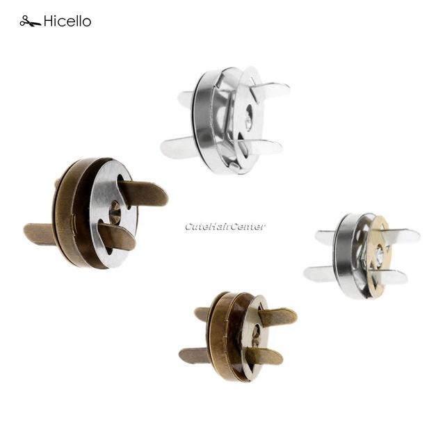 Genuine Hicello 10 Sets Saco de Botões Magnéticos Snaps Fixadores Fechos Da Bolsa Bolsa De Couro Artesanal de Costura Botões Botões do Casaco