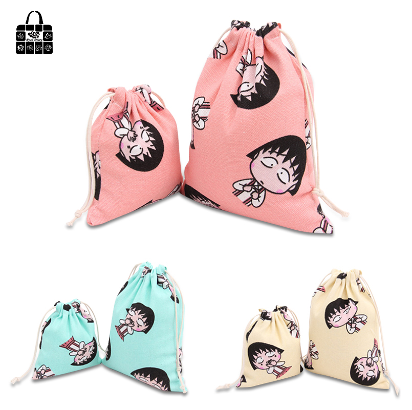 RoseDiary Animated Cartoon 100 Cotton Bunch Pocket Portable Travel Accessorie Clothing Organizers Bag Toy Storage Bag Cute Purse