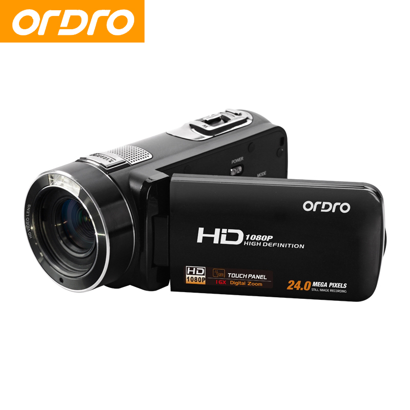 ORDRO HDV Z8 Full HD 1080P Reflex Digital Photo Cameras 16X Video Recorder Mini Camcorders with LCD Touch Screen Face Detection winait electronic image stabilization hdv z8 digital video camera with recording function touch screen
