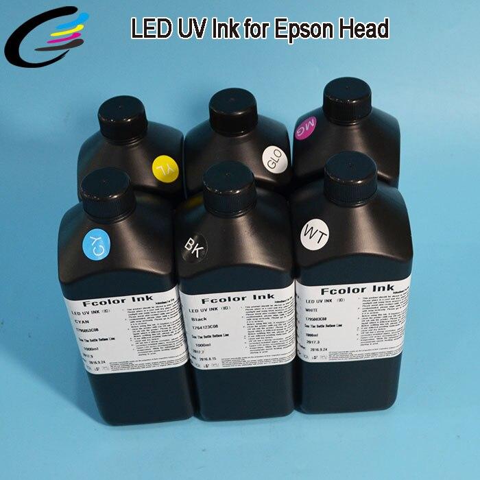 1L C, M, Y, K, blanc + blanc Roland LEC 540 LEC 330 LEC 300 encre d'imprimante à plat à polymérisation UV
