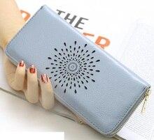Купить с кэшбэком Real Genuine Leather Women Wallets Brand Design High Quality 2017 Cell phone Card Holder Long Lady Wallet Purse Clutch