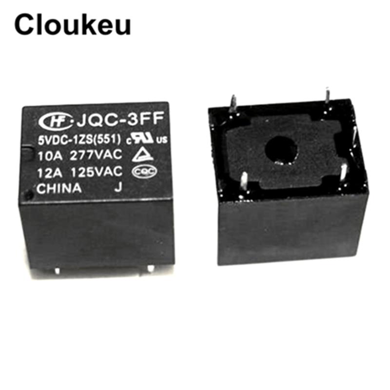 JQC-3FF-5VDC-1ZS 10A реле DIP5 HF3FF-005-1ZS