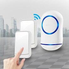 newest Waterproof Wireless Doorbell 36 rings 3 volume door chime 300M remote digital door bell EU/US/UK/AU plug недорого
