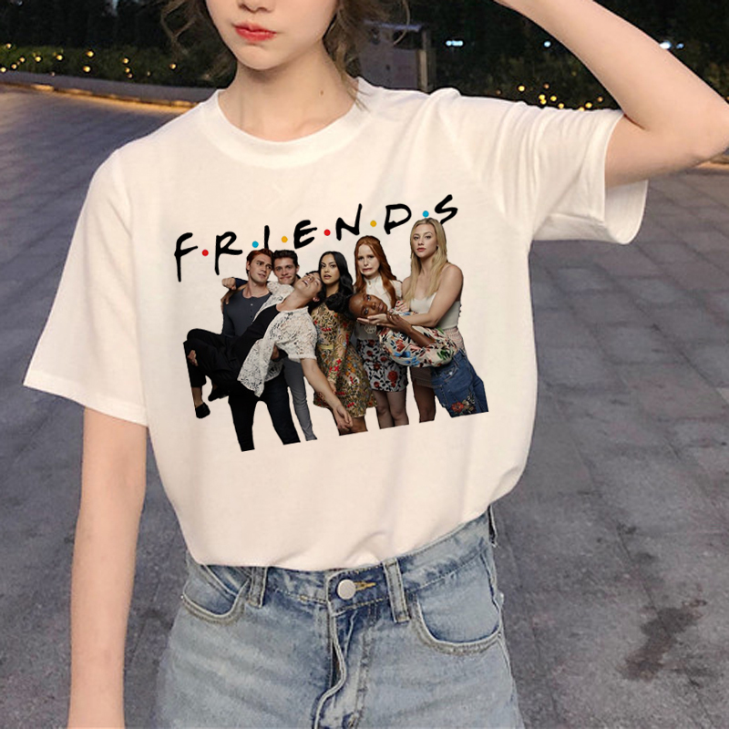 Riverdale Harajuku   T     Shirt   Southside Serpent Ullzang Funny Cartoon   T  -  shirt   90s Graphic Fashion Tshirt Snake Print Top Tee Female