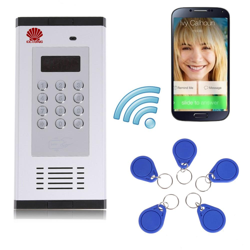 3G GSM Apartment Intercom Access Control System Support To Open Door By Phone Call RFID SMS Command Remote Control Gate Opener