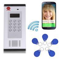 3g GSM Wohnung Gegensprechanlage Access Control System Unterstützung zu Öffnen Tür durch Anruf RFID SMS Befehl Fernbedienung tor Öffner auf