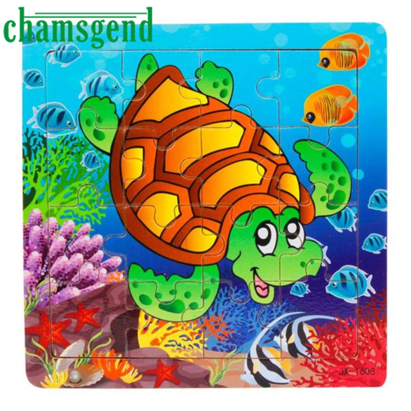 12 Patterns 16 Piece Wooden Kids Jigsaw Toys For Children ...
