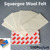 100Pcs 3M Wool Felt Squeegee Car Wrapping Vinyl Film Edge For Sign Vinyl Vehicle Wrap Tinting