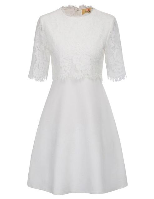 Us 13 28 Black White Lace Elegant Dress For Party Wedding Formal 90s Victoria Beckham Vintage Retro Pinup Dress Women Vestido De Festa In Dresses