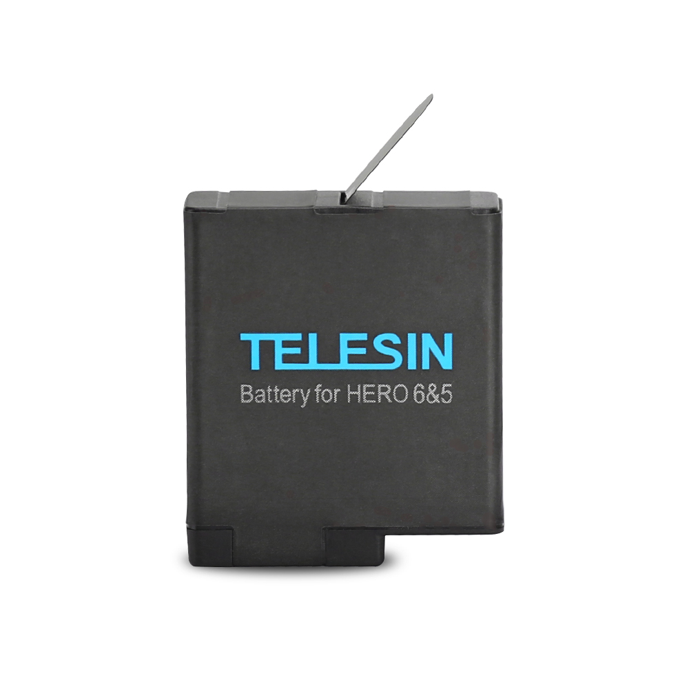 TELESIN Battery Pack + Storage Carry Case for GoPro Hero 6, Hero 5 Replacement Extra Backup 3.85V 1220mAh Batteries Accessories