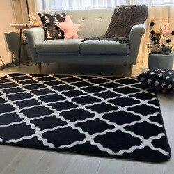 Hoge Kwaliteit Zwart Wit Rooster Tapijt Home Decor Baby Kinderen Comfortabel Klimmen Spel Mat antislip Tapijt Yoga Mat sofa Matten