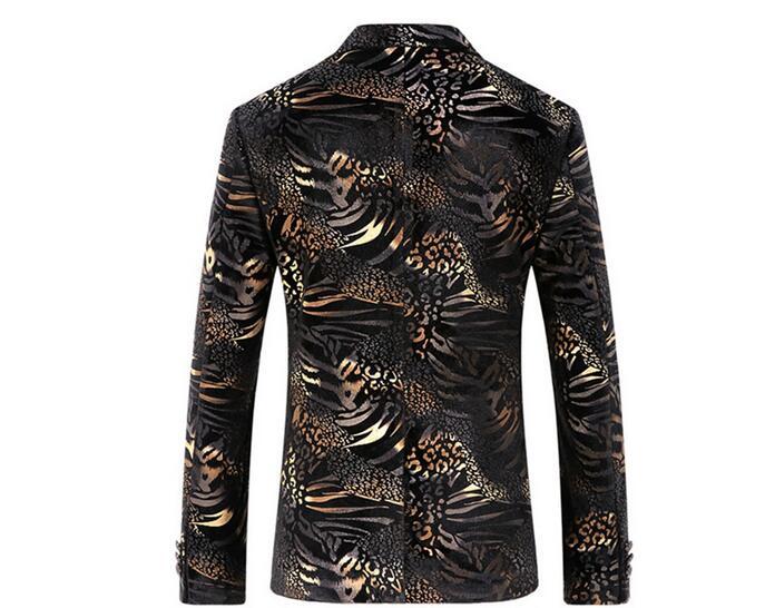 Uomini Stampato Blazer Jacket Nuovo ArrivalsDesirable Tempo Mens casual Floreale Giacca Sportiva vestito degli uomini - 4