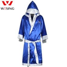 Боксерский халат Wesing, Мягкая атласная накидка для бокса, для мужчин и женщин, боксерский халат, свитшот, форма для бокса, Bata Boxeo Robe