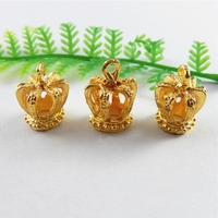 20pcs/lot Trendy Alloy Gold Crown Women Necklace Pendant Bracelet Jewelry Making Charms 16*12mm Handmade Crafts Gift 51451