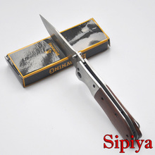 Brand Folding Hunter Knife 3Cr13 Blade + Redwood Handle