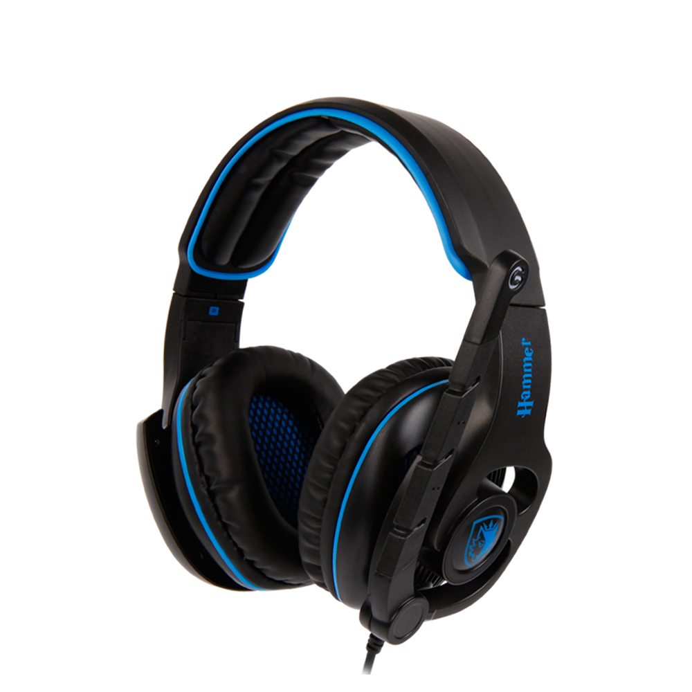 SADES HAMMER Virtual 7.1 Surround Sound Headset Gaming Headphones with Rotatable Microphone Multifunctional In-line Controller factory price binmer sades 7 1 surround sound bass headband gaming headset cobra design jy29 drop shipping