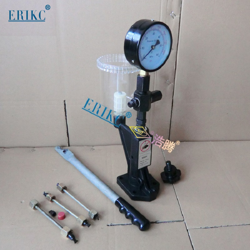 ERIKC High Precise Black Piezo Injector Tester Diesel Injector and Fuel Nozzle Tester Diesel Injection Pump Repair Equipment erikc auto engine diesel injector test machine and common rail fuel piezo injection nozzle tester equipment 220v