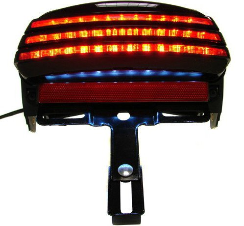 Smoke LED Tail Light/Bracket Tri-Bar Fender for Harley Softail Fxst Fxstb Fxstc 2006-2013 Motorcycle pinko брючный комбинезон