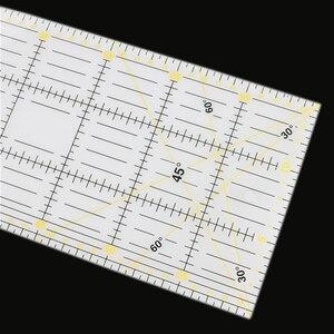 Image 2 - 1 Pcs 15*60 cm תפירה טלאי שליט 3mm עבה שקוף טלאי רגל בעבודת יד Diy חיוני ייעודי טלאים כלים