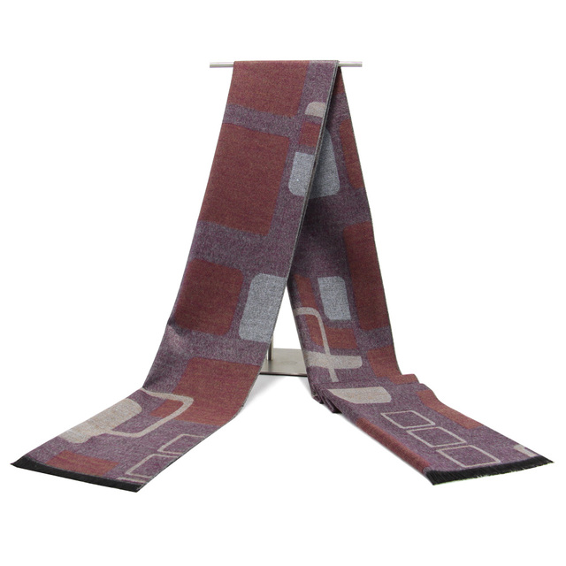 fa048f8ad88 Date D hiver Hommes Écharpes De Luxe Marque Cachemire Écharpe Géométrique  Vérifié Écharpe pour Hommes