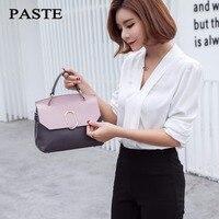 Модная женская сумка из натуральной кожи, роскошные сумки VL, розовые и серые маленькие сумки через плечо, сумки через плечо с панелями