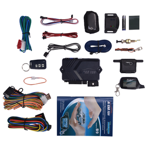 Image 1 - Russische Versie Twee Richtingen Auto Alarm Systeem met Motor Start LCD Afstandsbediening Sleutelhanger Case Voor B9