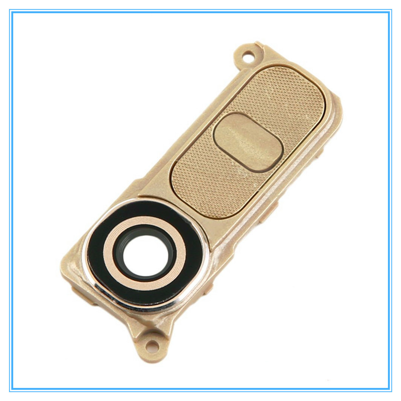 Original New Replacement For LG G4 H810 H811 H815 F500 Rear Camera Lens Cover+ Frame Holder + Power Volume Button Assembly