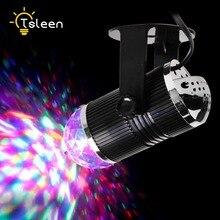 Cheap 3W DJ Light RGB Changing Sound Actived Crystal Magic Mini Disco Ball Led Stage Lights for KTV Xmas Wedding Party Light