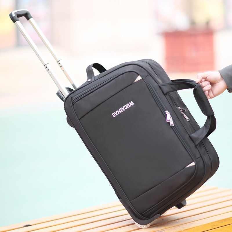 79c4e4cc5b05 Новый портативный легкий чемодан для багажа на колесиках Оксфорд Мужчины  Путешествия носить на чемодан женщины большой