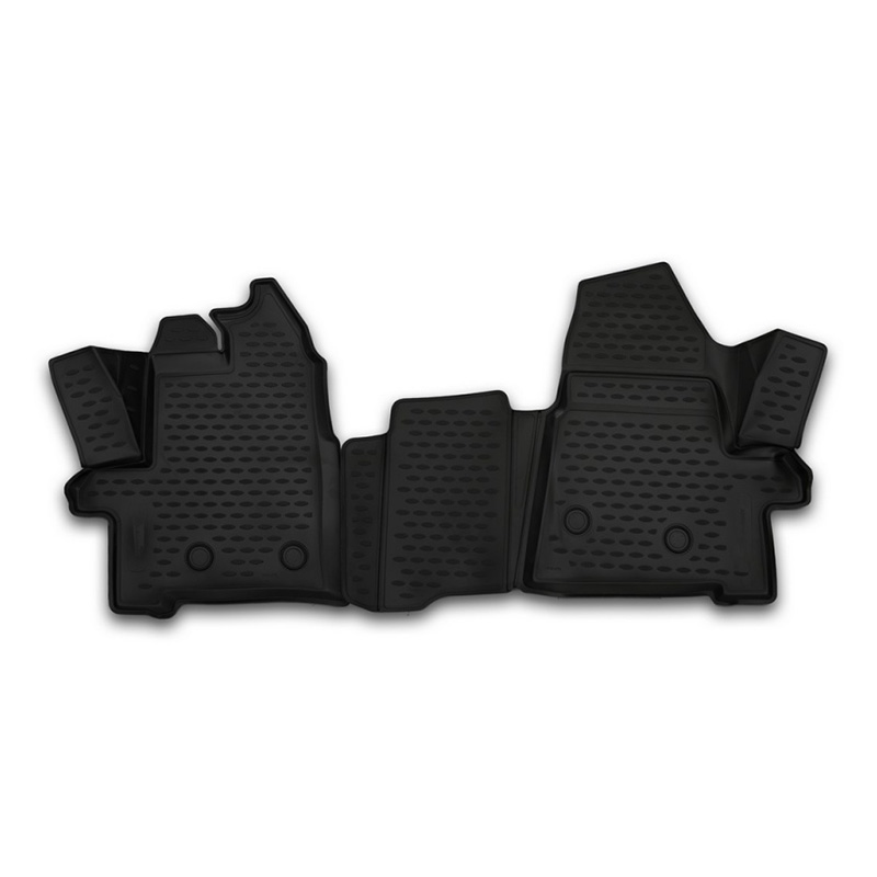 Car Mats 3D salon for Ford Transit, 2014-> 2 PCs (polyurethane) car mats 3d salon for ford tourneo custom transit custom 1 2 seats 2013 2017 2 pcs